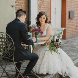 wedding flowers bride and groom